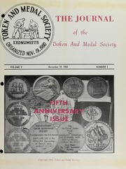 Journal of the Token and Medal Society, Vol. 5, No. 5