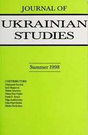 Vol 23, no. 1: Journal of Ukrainian Studies