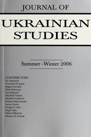 Vol 31, no. 1-2: Journal of Ukrainian Studies