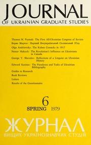 Vol 4, no. 1: Journal of Ukrainian Graduate Studies 6