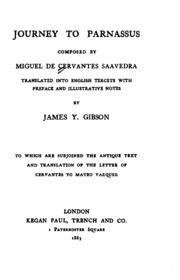 Journey to Parnassus : Miguel de ( Cervantes Saavedra ...