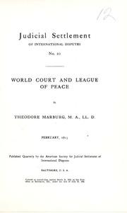 Judicial settlement of international disputes