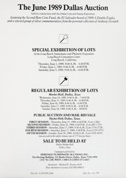 The June 1989 Dallas Auction
