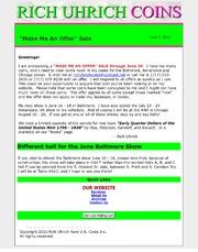 "June 2011 - ""Make Me An Offer"" sale announced"