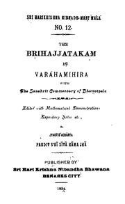 Brihat Jataka Of Varahamihira Pdf