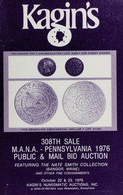 Kagin's 308th Sale: M.A.N.A. Pennsylvania 1976
