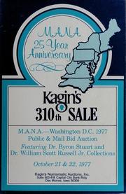 Kagin's 310th Sale: M.A.N.A. 25 Year Anniversary