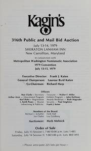 Kagin's 316th Sale: M.W.N.A Sale