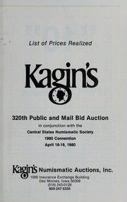 Kagin's 320th Sale: Central States Numismatic Society