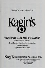 Kagin's 322nd Sale: Great Eastern Numismatic Association
