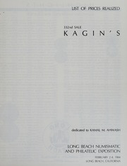 Kagin's 332nd Sale: Dedicated to Kamal M. Ahwash