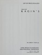 Kagin's 334th Sale:?The Aaron T. Bliss Sale