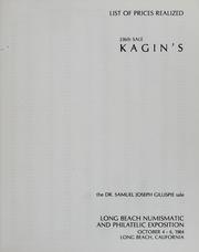 Kagin's 336th Sale: The Dr. Samuel Joseph Gillispie Sale