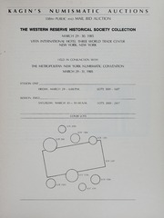 Kagin's 338th Sale: The Western Reserve Historical Society Collection