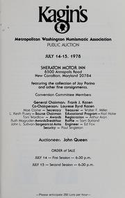 Kagin's Metropolitan Washington Public Auction Sale