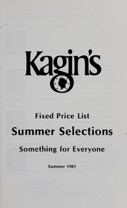 Kagin's Summer 1981 Fixed Price List