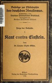 Kant contra Einstein