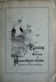 Katalog der Ausstellung der Aquarellisten-Clubs der Genossenschaft der Bildenden Künstler Wiens, 1893