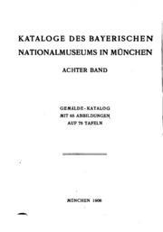 Katalog der Gemälde des bayerischen Nationalmuseums