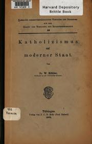 Katholizismus und moderner Staat