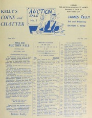 Kelly's coins and chatter : mail bid auction sale. [07/28/1952]