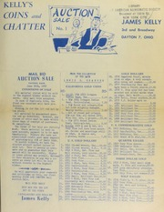 Kelly's coins and chatter : mail bid auction sale. [06/30/1952]