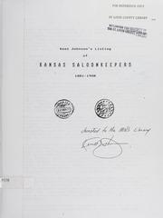 Kent Johnson's Listing of Kansas Saloonkeepers 1881-1908