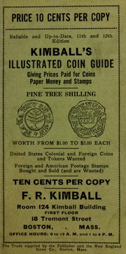 Kimball's Illustrated Coin Guide [Prices Paid For List]