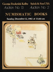 Numismatic Books: Kolbe Auction No. 13 / Spink & Son Auction No. 2