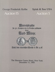 George Frederick Kolbe Auction 15 / Spink & Son USA Auction 5