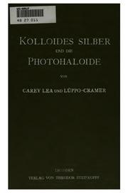Kolloides Silber und die Photohaloide
