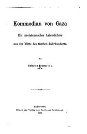 Kommodian von Gaza: Ein arelatensischer Laiendichter aus der Mitte des fünften Jahrhunderts