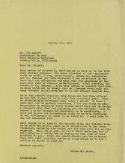 A. Kosoff Correspondence, 1947-1981