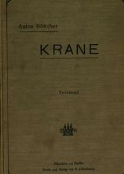 Vol 1: Krane: Ein Handbuch für Bureau, Betrieb und Studium