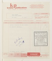 Krause Publications Correspondence, 1977-2009