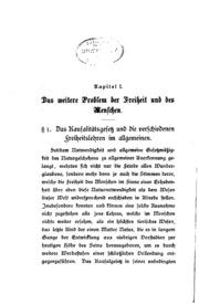 Kritik der Freiheitstheorien: Eine Abhandlung über das Problem der ...