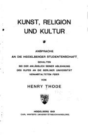 Kunst, Religion und Kultur: Ansprache an die Heidelberger Studentenschaft ...