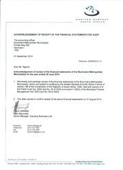 AGSA acknowledgement of receipt 1314 AFS
