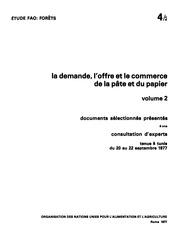 La Demande I Offre Et Le Commerce De La Pate Et Du Papier 2 Forets 4-2
