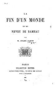 La fin d-un monde et du Neveu de Rameau