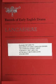 early english drama The records of early english drama is an international scholarly project, aiming to establish, for the first time, the broad context from which the great drama of .