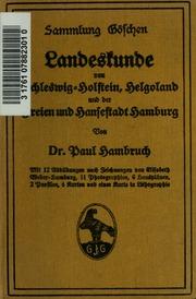Landeskunde von Schleswig-Holstein, Helgoland und der Freien und Hansestadt Hamburg ..