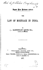 mortgage law in india pdf