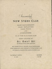 Announcing New Stork Club