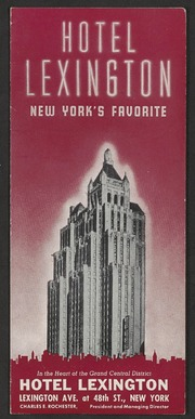 Hotel Lexington : New York'...