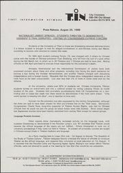 Press release (Tibet Inform...