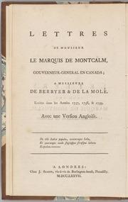 Lettres de Monsieur le marq...