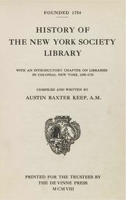 History of the New York soc...