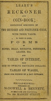 Leary's Reckoner and Coin Book