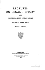 legal essays thayer james bradley  lectures on legal history and miscellaneous legal essays